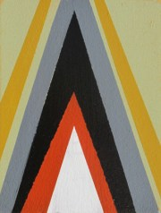 """arrow"" acrylic on board, 3 x 5 inches"