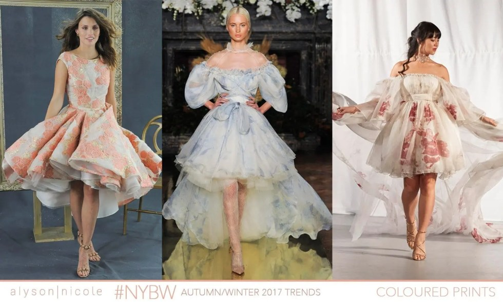 new york bridal week- COLOURED PRINTS