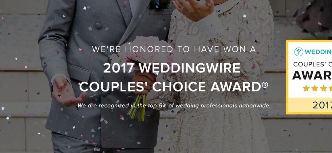 2017 WeddingWire Couples' Choice Award®