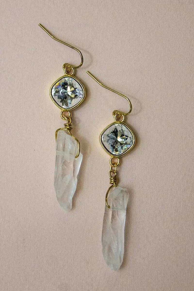 Raeghan - Crystal Quartz Earrings