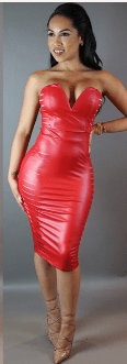 Benzo Leather Dress