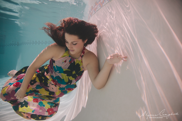 Mesa Underwater Photographer  Taylors Underwater Prom Dress Session  Alyssa Campbell Photography