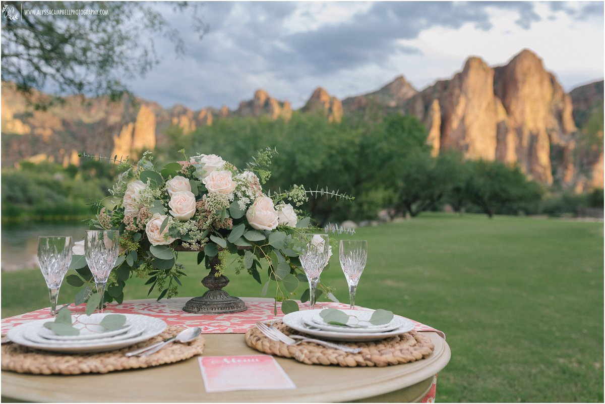 Saguaro Lake Guest Ranch Styled Wedding  Alyssa Campbell Photography