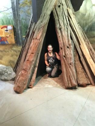 Me inside a tent :)