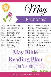 May Bible Reading Plan | alyssajhoward.com