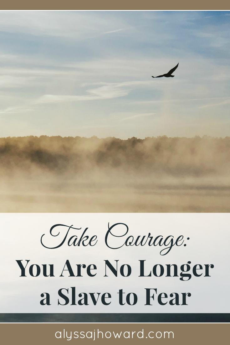 Take Courage: You Are No Longer a Slave to Fear   alyssajhoward.com