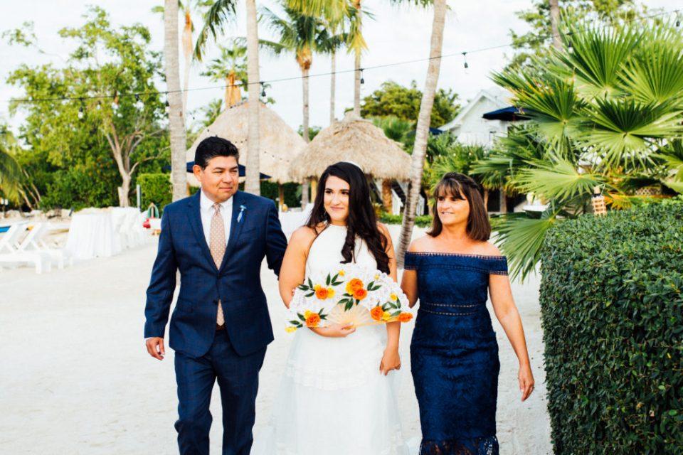 wedding at the coconut palm inn