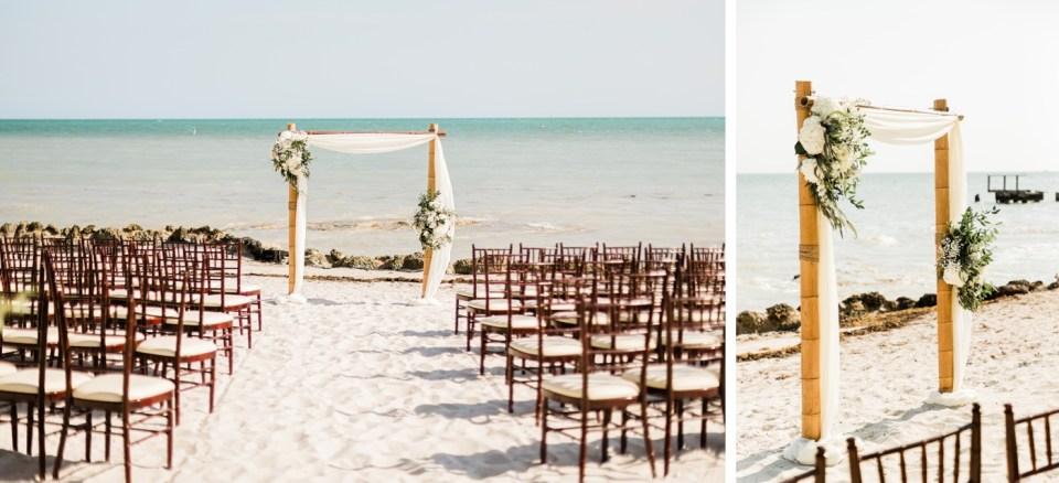 Beach wedding ceremony at Waldorf Casa Marina Resort