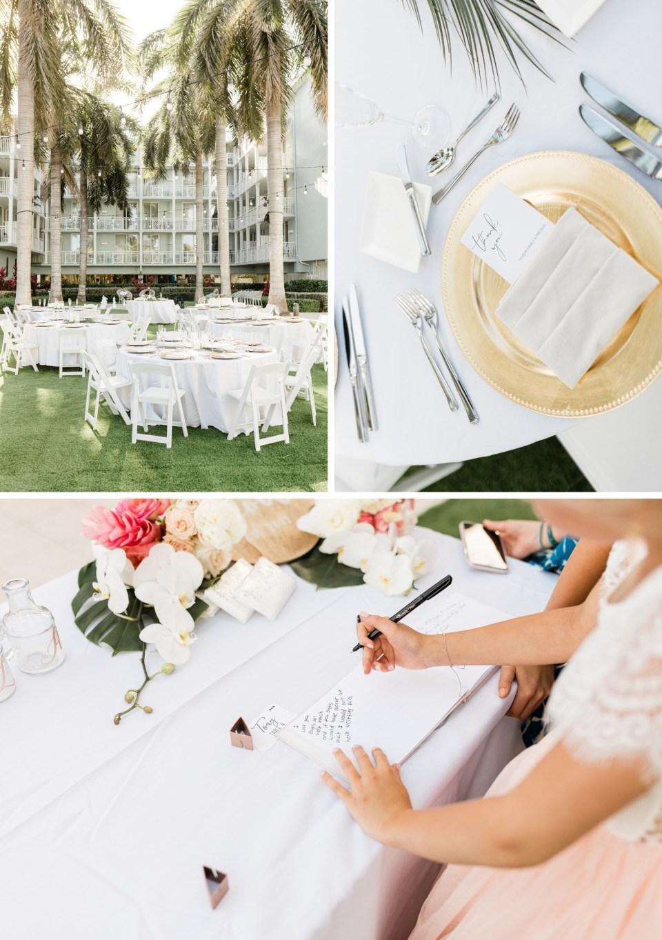 Florida Keys wedding reception