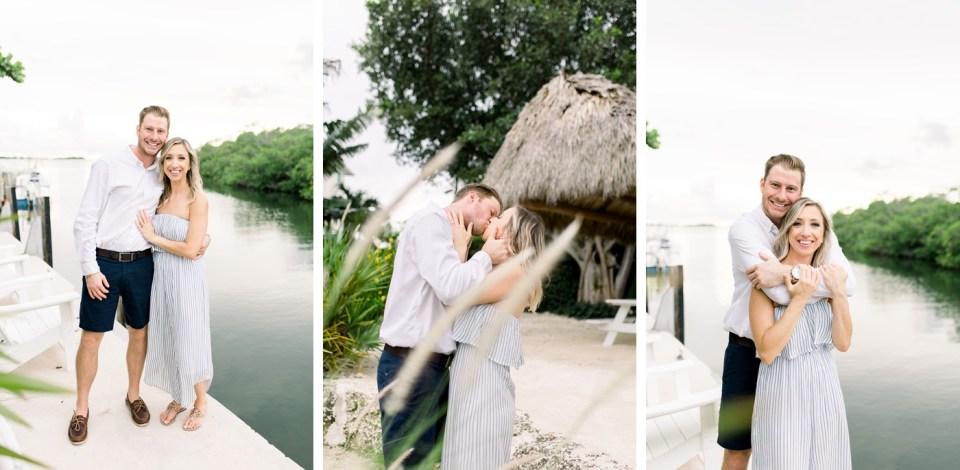 Coastal engagement session in the Florida Keys
