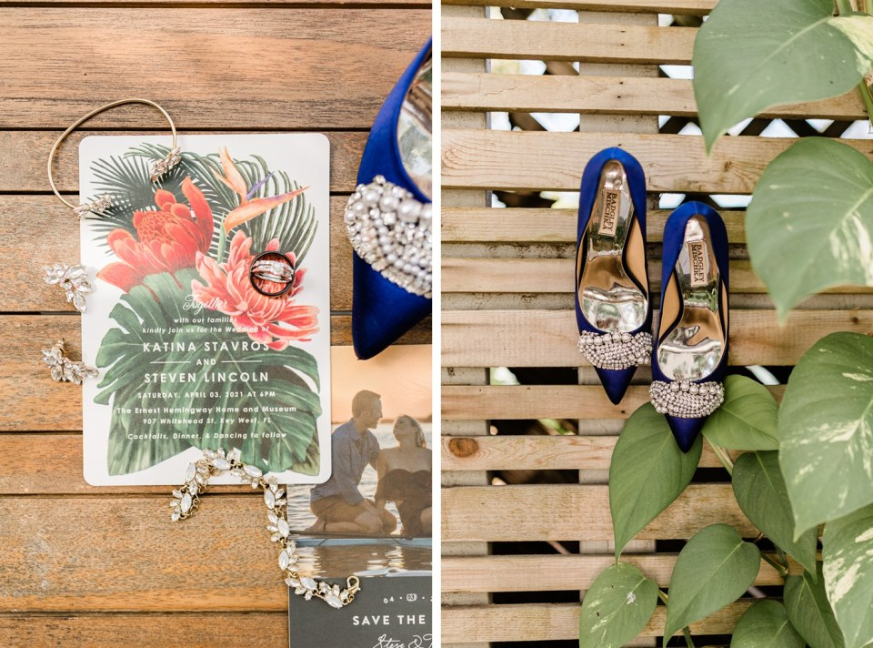 Tropical wedding invitations from Minted