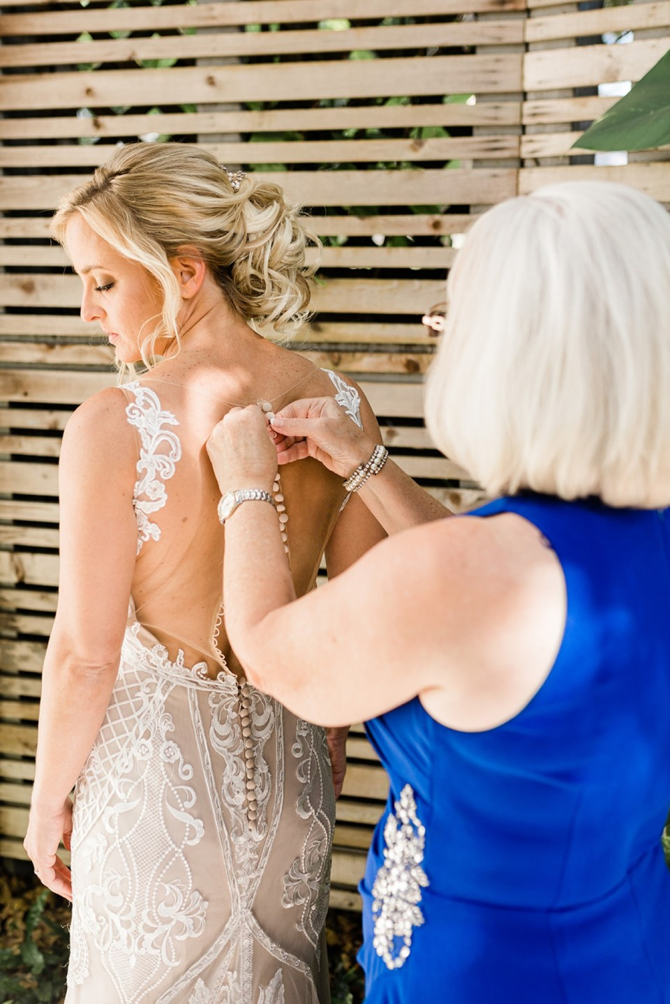 Bride getting ready at Kimpton Lighthouse Hotel