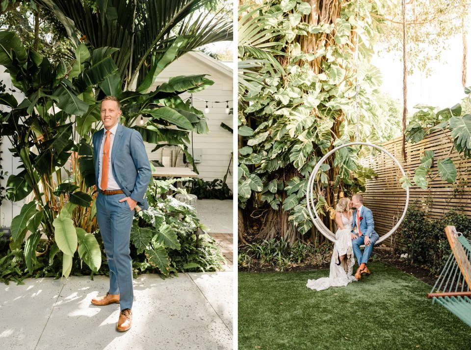 Tropical intimate spring wedding at The Hemingway House