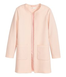 TEXTURED WEAVE JACKET - Powder Pink; Source: hm.com