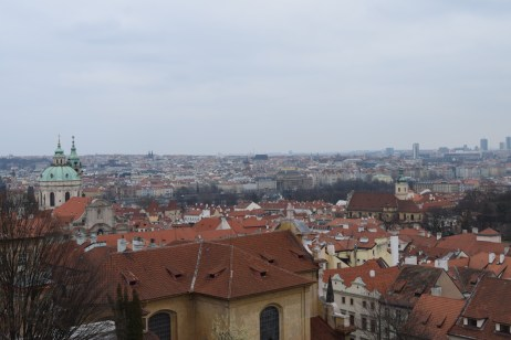 View of Prague from behind the Prague Castle