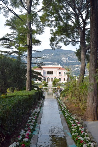A view of the villa, from the gardens