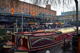 Boats on Regent's Canal, view of the Camden Market