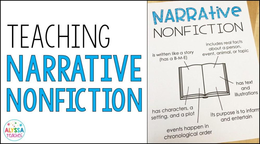 medium resolution of Teaching Narrative Nonfiction - Alyssa Teaches