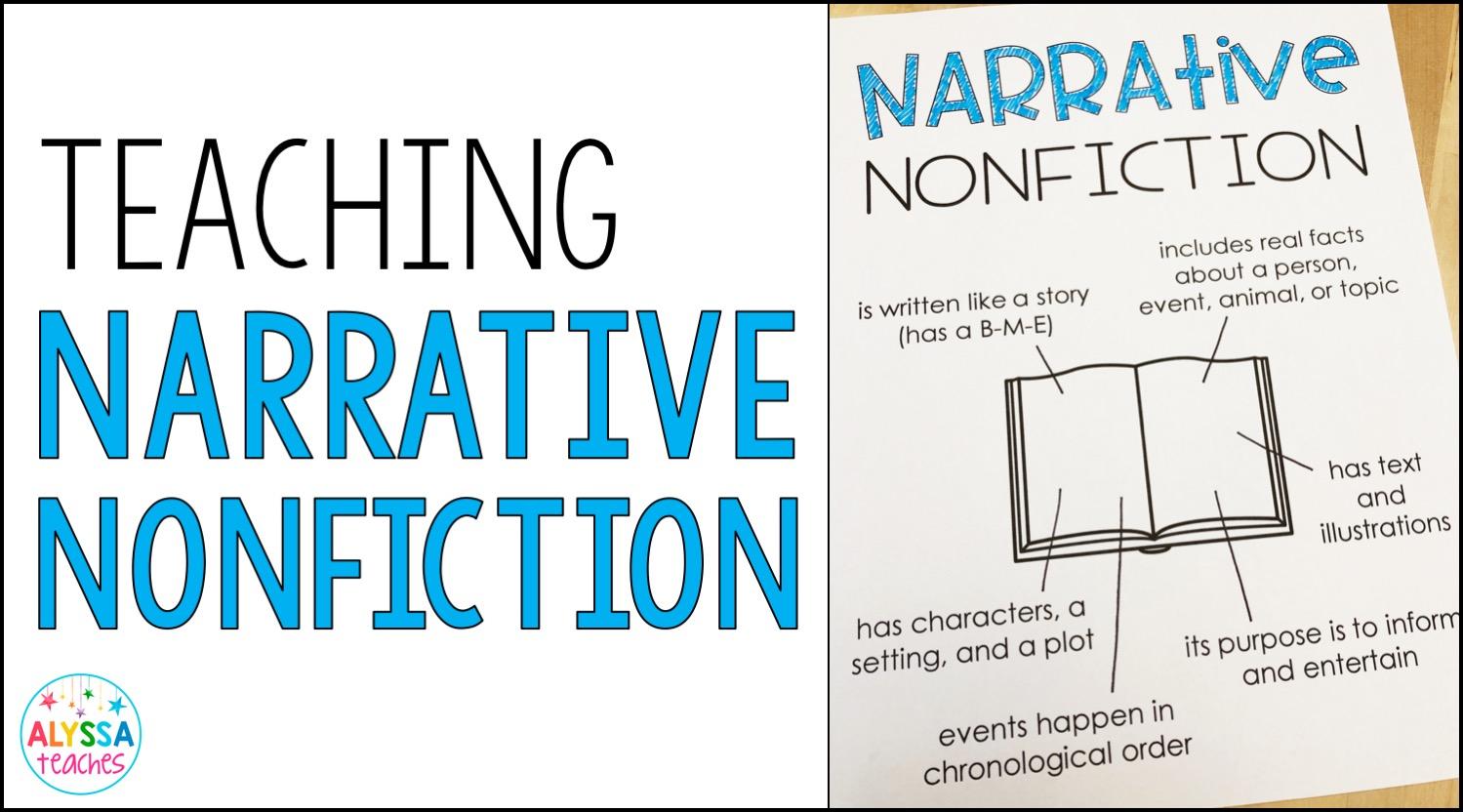 hight resolution of Teaching Narrative Nonfiction - Alyssa Teaches