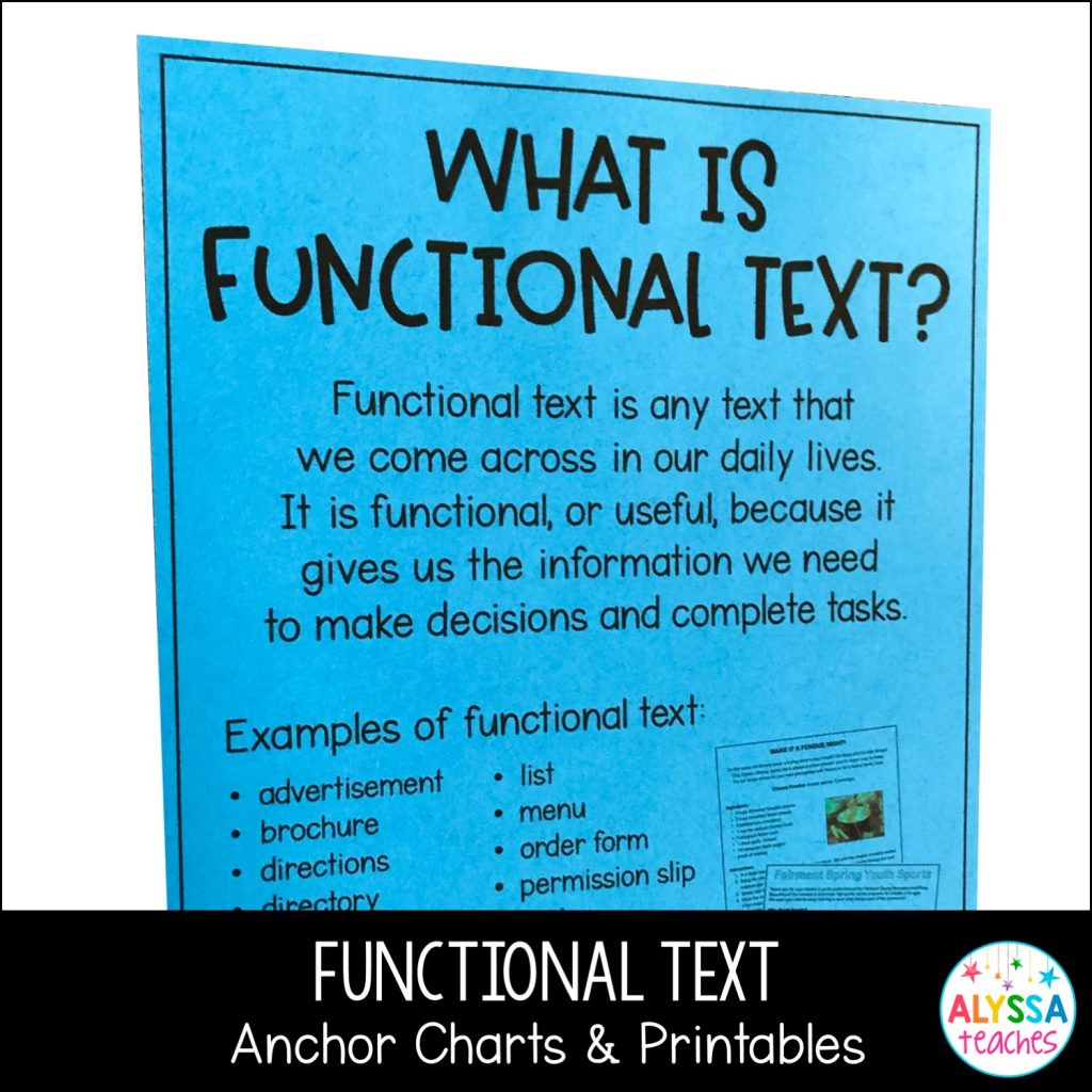 Teaching Functional Text In The Upper Grades