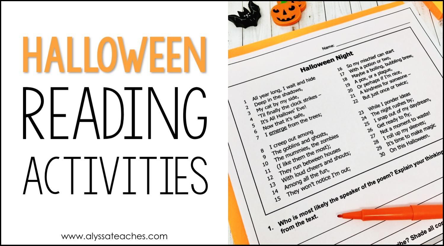 hight resolution of Halloween Reading Activities for 4th Grade - Alyssa Teaches