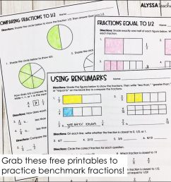 Using Benchmark Fractions to Compare Fractions - Alyssa Teaches [ 1024 x 1024 Pixel ]