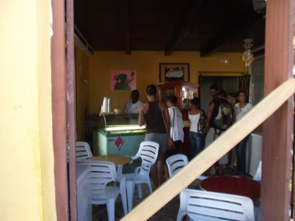 Ziouka Glaces ice cream shop, Carbet, Martinique