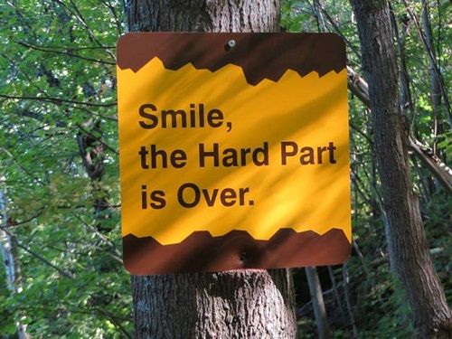 Smile, the hard part's over
