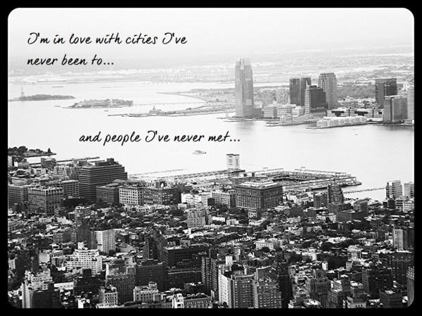Wanderlust, quote, NYC skyline