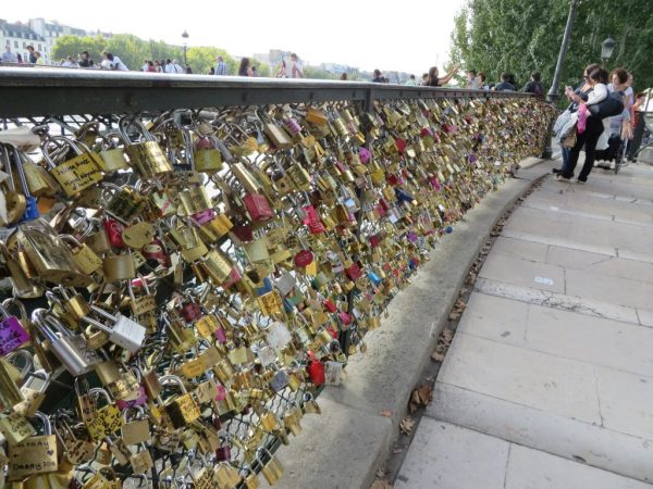 Pont des Arts, love locks, Paris,