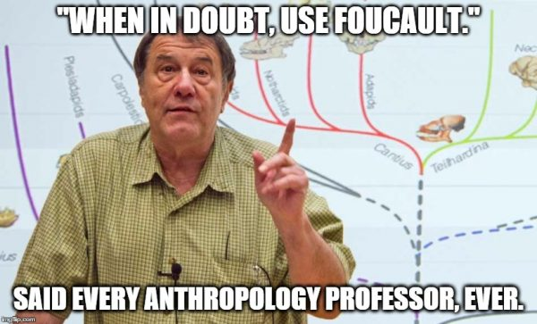 when in doubt use foucault, anthropology phd, anthropology study, anthropology professor quote