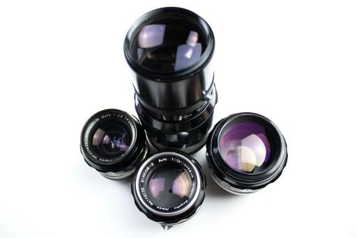 Nikon F lenses Nikkor