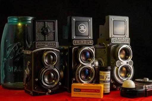 3 TLR 127 Film Cameras Photo Courtesy of Mike Novak