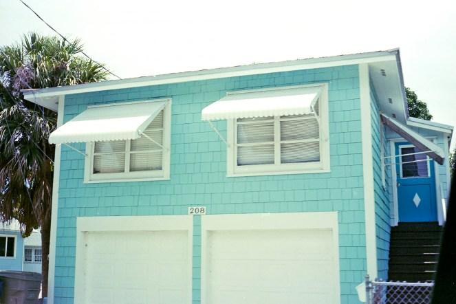 blue house