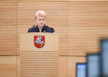 Prezidentė D. Grybauskaitė