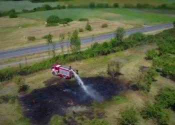 Luksnėnų soduose išdegė maždaug 100 hektarų plotas. Įtariamas neatsargus elgesys su ugnimi arba padegimas