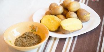 Bulvės su kanapių druska. Dariaus Minsevičiaus nuotr.