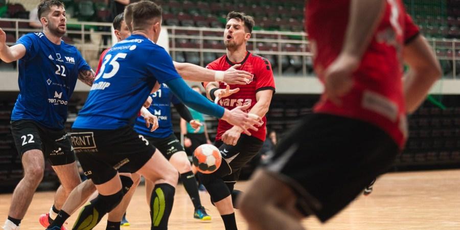 Rezultatyviausias Alytaus komandos žaidėjas Baltijos rankinio lygoje Žygimantas Micevičius. Domanto Aleksyno nuotr.
