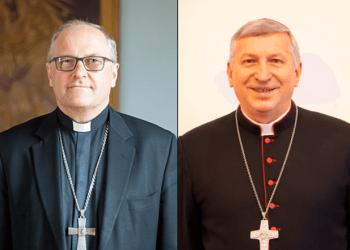 Kaišiadorių vyskupas J. Ivanauskas ir Vilkaviškio vyskupas R. Norvila