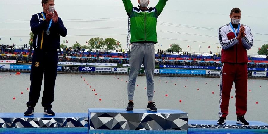 M. Maldonis (viduryje) iškovojo kelialapį į olimpines žaidynes Tokijuje. Jurijaus Vaščenkovo nuotr.