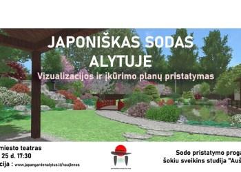 Gegužės 25 dieną Alytaus miesto teatre vyks viešas japoniško sodo idėjos ir vizualizacijos pristatymas