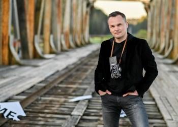 G. Leškevičius pristatu naują dainą.  G. Kaškelio nuotr.