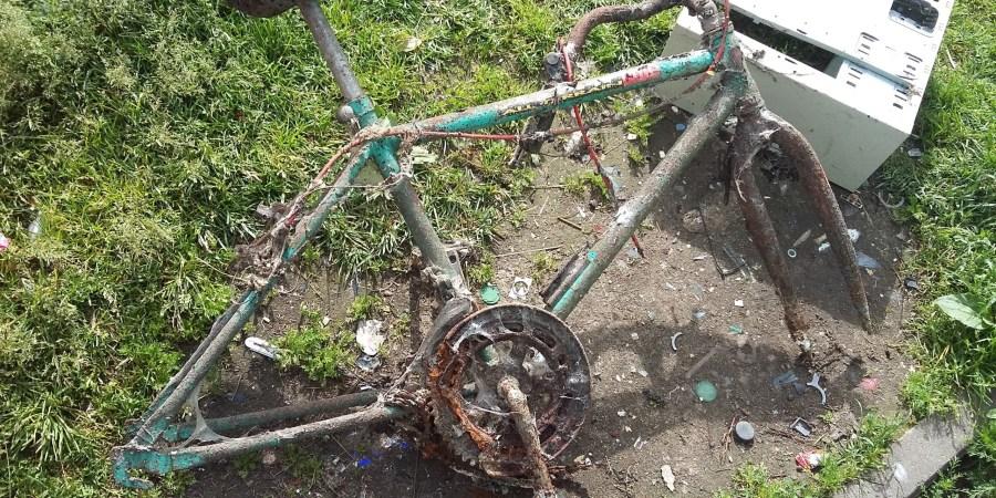 Vogtais dviračiais kartais atsikratoma juos pradanginant vandens telkinyje Asociatyvi Alytausgidas.lt nuotr.