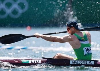 Daugiškis M. Maldonis olimpiadoje Tokijuje. Yara Nardi nuotr.