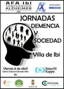 Cartel congreso Demencia y Sociedad Villa Ibi