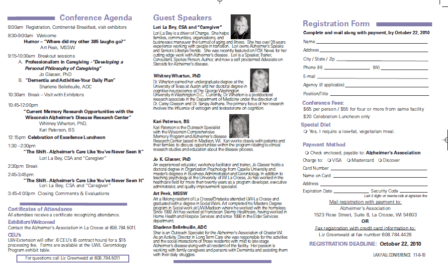 Wisconsin Alzheimer's Fall Education Conference