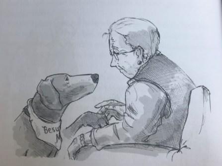 BEsuchshund Max Pfötchen geben