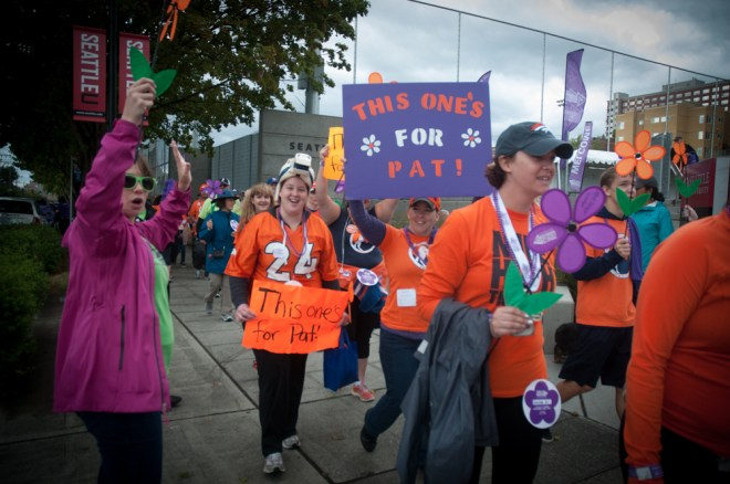 Broncos fans walked in Seattle to honor and support Pat Bowlen.