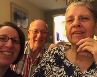 Amy with mom and dad