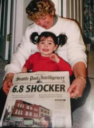 Kaitlyn as a baby in her grandma's lap